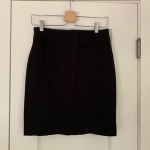 Thick black skirt. Great for work.